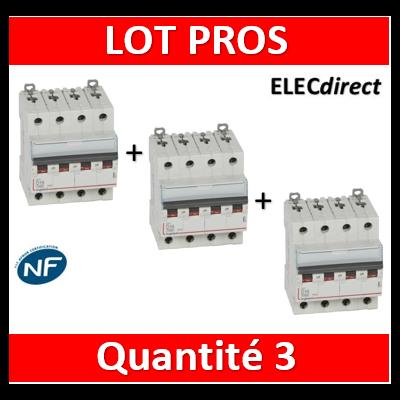 Legrand - Disjoncteur 4P DX3 16A - 10kA - courbe D - 408117x3