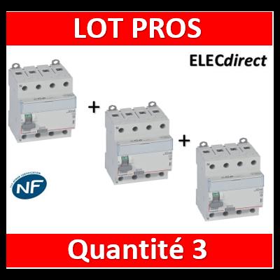 LEGRAND - Interrupteur différentiel DX3-ID 4P 25A - 30mA - A - 411674x3