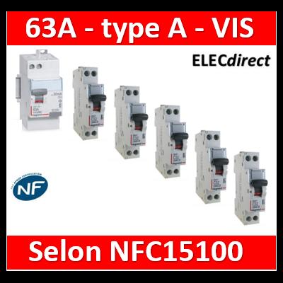 LEGRAND - LOT NFC15100 type A 63A + DPN DNX3 10A+16A+20Ax2+32A