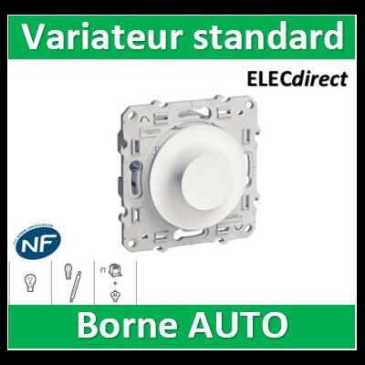 Schneider Odace - Variateur standard - 40.....600W - 2 fils - Blanc - s520511