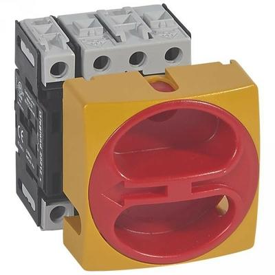 Legrand - Interrupteur de sécurité sectionneur rotatif complet - encastré cadenassable - 4P neutre G - 50 A - 022114