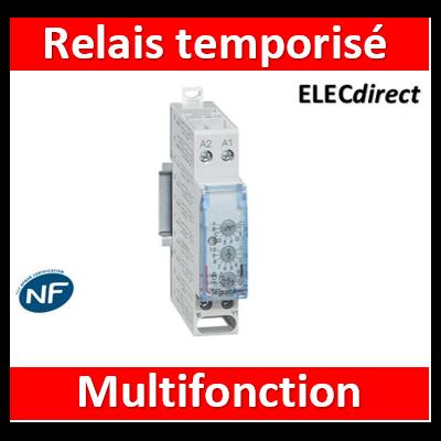 Legrand - Relais temporisé modulaire multifonction - 1 module - 004744