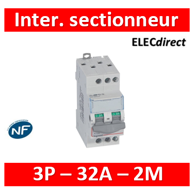 Legrand - DX3 Interrupteur-sectionneur 3P - 32A - 2 modules - 406459