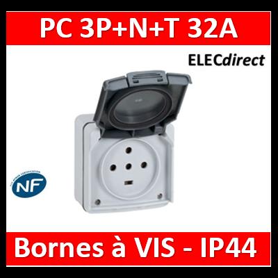 Legrand Plexo - Prise de courant 3P+N+T 32A - saillie - IP44/IK08 - 055877