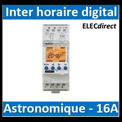 Theben - Interrupteur astronomique modulaire 1no+1nf duofix 16 a - 1700130