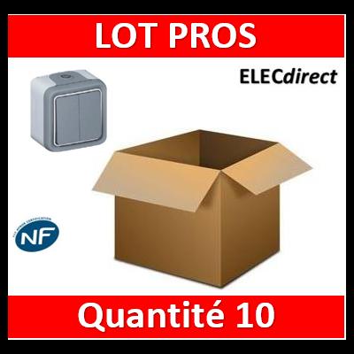 Legrand Plexo - Double Va-et-Vient 10A - 230V - IP55/IK07 - 069715x10