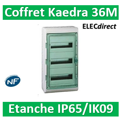 Schneider Kaedra - coffret Etanche - 340 x 610 mm - 36 modules - 3x12 -13966