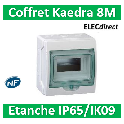 Schneider - coffret étanche Kaedra 195 x 200 mm - 8 modules - 13959