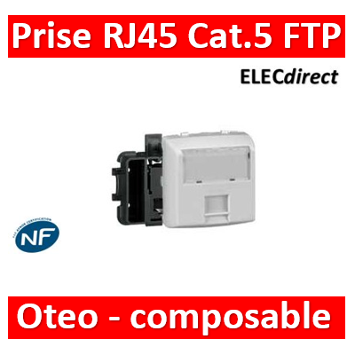 Legrand Oteo - Prise RJ45 Cat. 5 FTP appareillage saillie composable - blanc - 086161