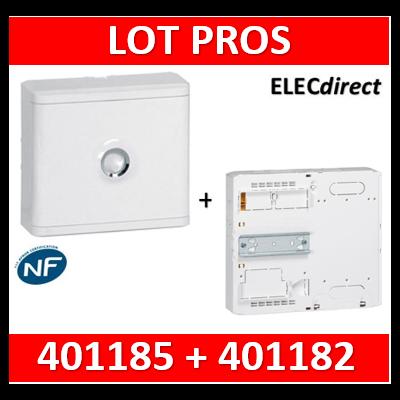 Legrand - LOT PROS - Platine pour Disjoncteur branchement + Compteur - DRIVIA 13M + habillage + porte - 401185+401182