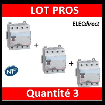 LEGRAND - Interrupteur différentiel DX3-ID 4P 63A - 30mA - AC - 411662x3