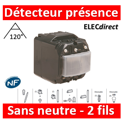 Legrand Céliane - Mécanisme Ecodétecteur automatique - 2 fils sans neutre - 230V - 067026