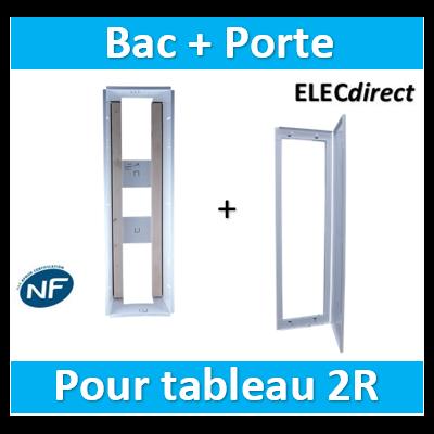 SIB - Bac métal 1 travée 13 - universel- coffret 2R + platine + coffret com. + porte - P06462+P06112