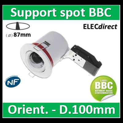 Vision EL - Support Spot Orientable - étanche à l'air - Blanc - D.100mm - BBC - 7719