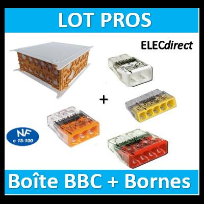 SIB - Boîte pavillonnaire BBC 200x200x85 + Bornes - 2, 3, 4, 5x100 - P32525+bornes