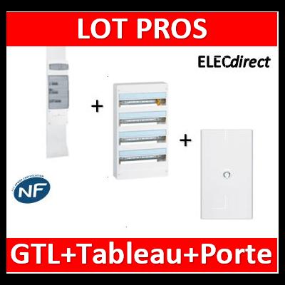 Legrand - Kit GTL 18M + tableau 72M + Porte blanche - 030067+401224+401234