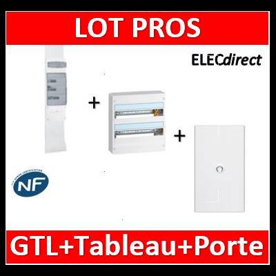 Legrand - Kit GTL 18M + tableau 36M + porte blanche - 030067+401222+401232