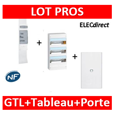 Legrand - Kit GTL 18M + tableau 54M + porte blanche - 030067+401223+401233