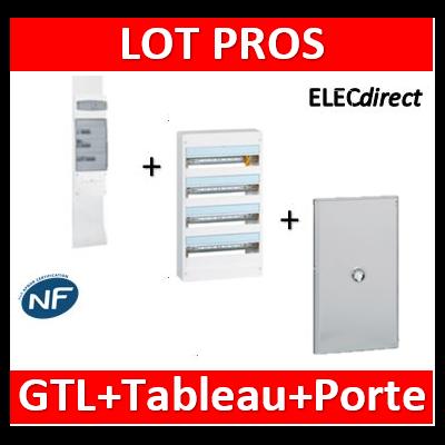 Legrand - Kit GTL 18M + tableau 72M + Porte transparente - 030067+401224+401244