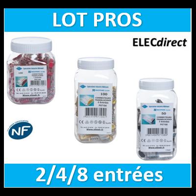 SIB - LOT PROS - 1 Boîte 2 entrées - 1 boîte 4 entrées - 1 boîte 8 entrées