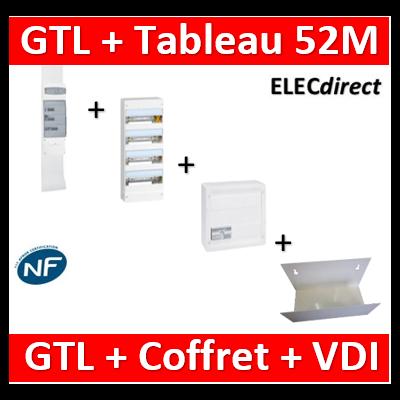Legrand - Kit GTL 13M complet + tableau 52M + VDI 8RJ45 - 030037+401214+413248+413083x4+ETTRI250