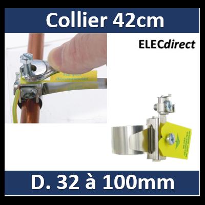Eurohm - Collier d'équipotentialité - 42cm - Diamètre 32 à 100 mm - 070512