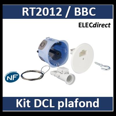 Point de centre DCL pour cloison sèche - XL Air'Métic -Ø 67mm - Système d'arrimage - Douille E27 - Axiale - 53094
