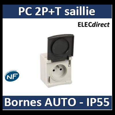 Eur'ohm - Prise de courant 2P+T 16A 230V - IP55/IK08 - 60720