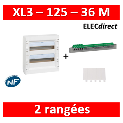 Legrand - Coffret de distribution 36 modules - 2 rangées de 18M - XL3 125 - 401612
