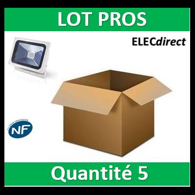 Vision EL - Projecteur LED 20W Blanc IP65 - 80421W x5