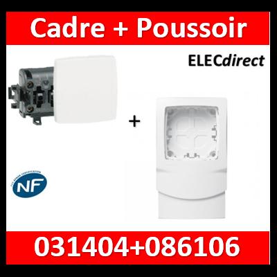 Legrand Oteo - Poussoir 6A - 230V + cadre DL plus - 086106+031404