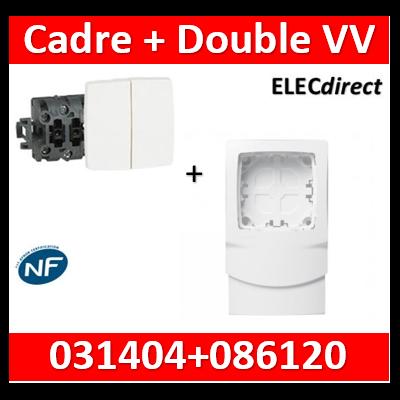 Legrand Oteo - Double Va-et-Vient composable 10A + Cadre - 230V - 086120+031404