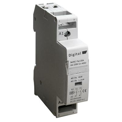 Digital Electric - Contacteur 2x20A 220Vac NO - 04512