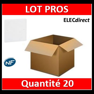 Legrand Batibox - Couvercle universel 80 x 80 - pour boîte 1 poste - 089281x20