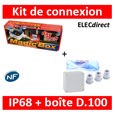 Ray Tech - Magic Box - Kit de connexion complet IP68 isolé avec Magic Fluid - D100. - MAGICBOX100