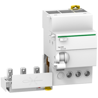 Schneider - Acti9 Vigi iC60, bloc différentiel 3P 25A 30mA type AC 230-240V 400-415V - A9Q11325