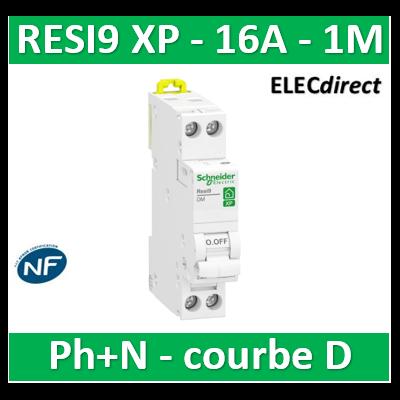 SCHNEIDER - DISJONCTEUR DUOLINE RESI9 XP (à VIS) - 16A - VIS/VIS - D - R9PFD616