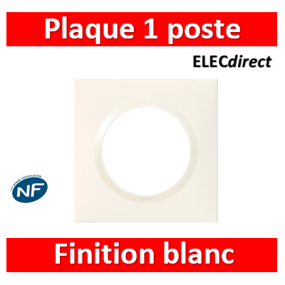 Legrand - Plaque Legrand Dooxie carrée 1 poste finition blanc - 600801