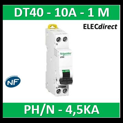 SCHNEIDER - Disjoncteur Ph/N 2A DT40 - 4,5KA - SCHA9N21101