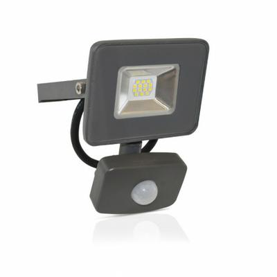 Vision EL - Projecteur Exterieur LED Gris avec Détecteur 10W 6000°K - 80300