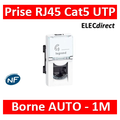 Legrand Mosaic - Prise RJ45 Cat. 5 UTP 1 module - 076551
