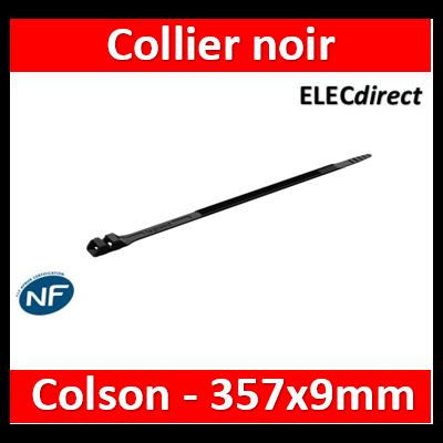 Legrand - Collier Colson noir à denture extérieure l.9mm et longueur 357mm - boîte 100  - 031919