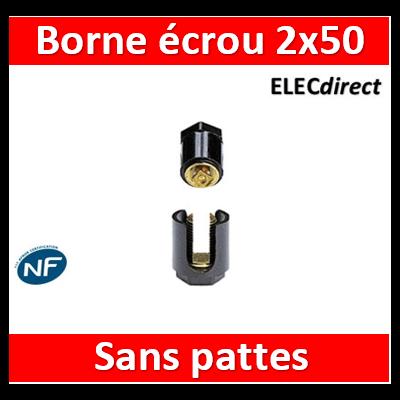 Legrand - Borne écrou 6 pans sans pattes 2 x 50 mm2 - 034034