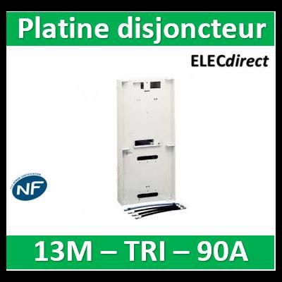 Schneider - Platine pour Disjoncteur branchement + Compteur - TRI - 13M - 90A - R9H13215