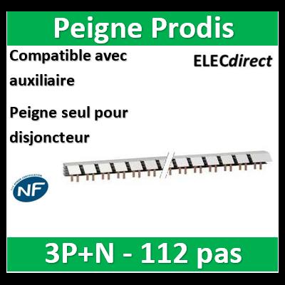 Schneider - ProDis peigne à dents, auxiliaire + 3P-N 63A 56 modules - A9N21036