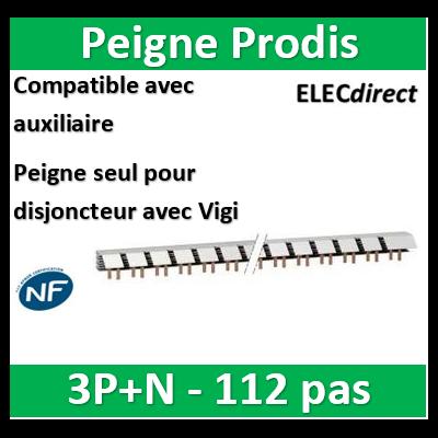 Schneider - ProDis peigne à dents, auxiliaire + 3P-N + VIGI 63A 56 modules - A9N21038