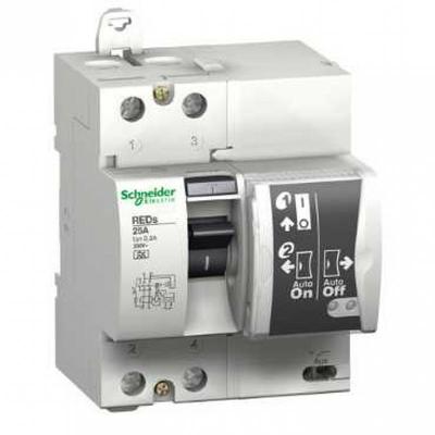 Schneider - Schneider Electric Interrupteur différentiel Réarmement Automatique Id Reds 2P, 40 A, 300 Ma Type A - 18690
