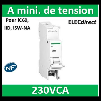 Schneider - Acti9, iMNx déclencheur à minimum de tension indép. tension alim. 220...240VCA - A9A26969