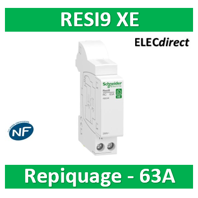 Schneider - Resi9 xe - module de repiquage - 63a - embrochable - R9EXR