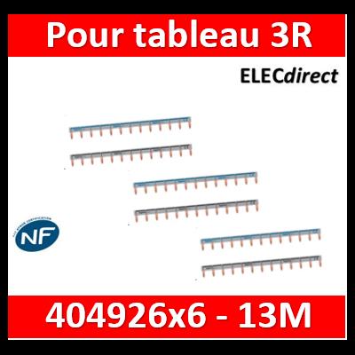 Legrand - Peignes d'alimentation 13 Modules Universel PH + N - 404926x6